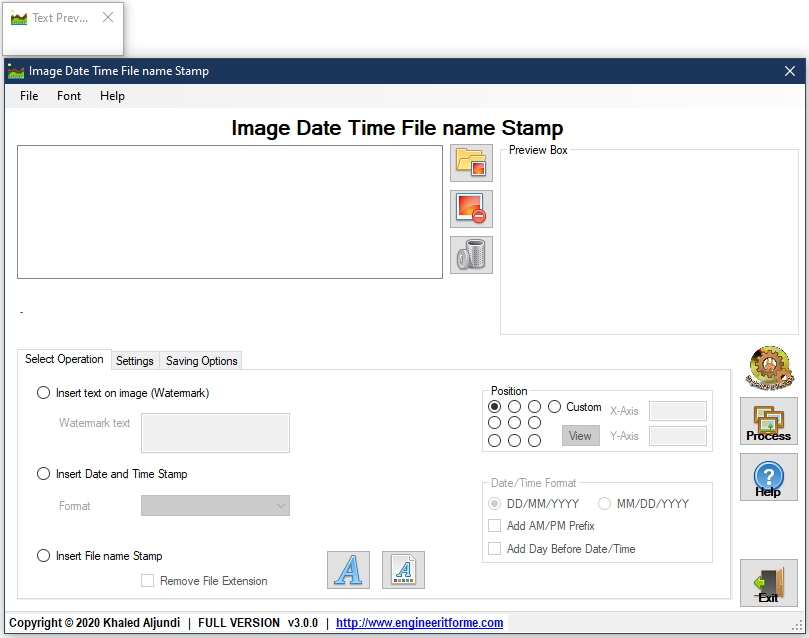 Image date time filename stamp